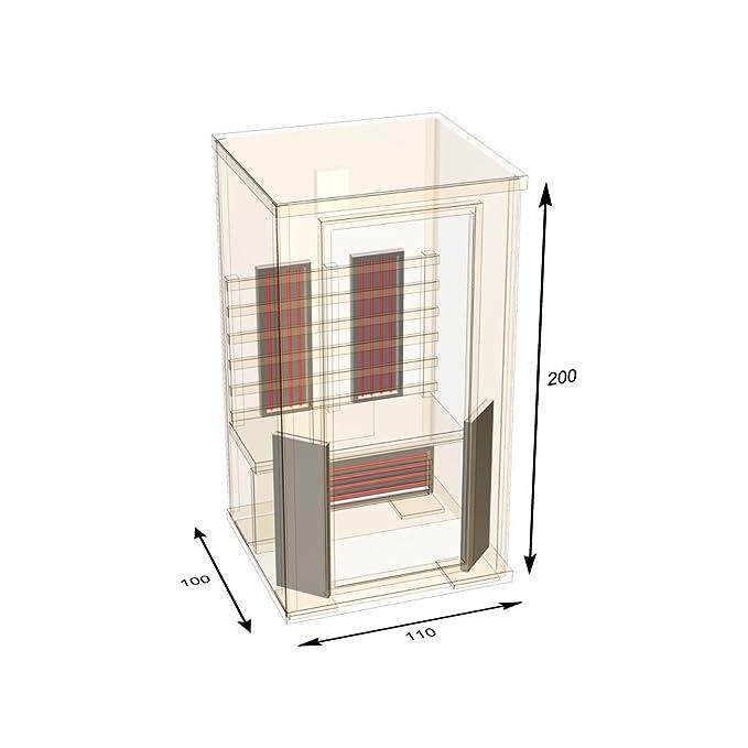 Cabina de infrarrojos Nobel sauna 110 con óxido de Magnesio & completo de la gama de los dispositivos: Amazon.es: Bricolaje y herramientas