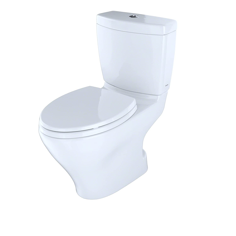 TOTO CST412MF.01 Aquia Dual Flush Elongated Two-Piece Toilet, 1.6GPF ...