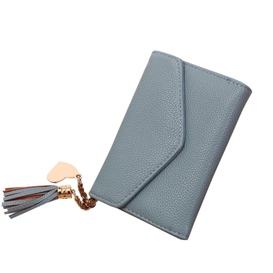 Pocciol Wallets, Fashion Women Classical PU Leather Clutch Wallet Short Card Holder Purse Handbag (Black) 001996