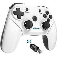 Maegoo Mando PC Windows,2.4G Wireless Game Mando Gamepad Joystick con Dual Shock Recargable para Playstation 3 y PC…