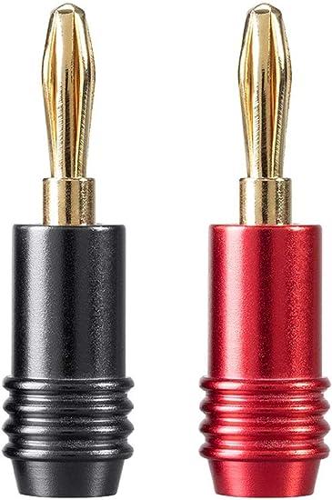 Monoprice 10 Pair Affinity Series 24k Gold Speaker Banana Plug