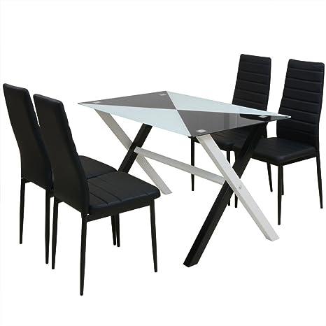 Fijo Night de 5 piezas Essgruppe comedor + 4 sillas comedor ...