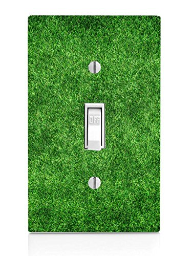 Green Field Light Grass (Green Grass Turf Field Light Switch Plate)