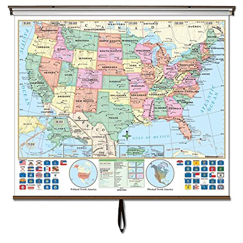 Essential Wall Map - United States Options: Rails