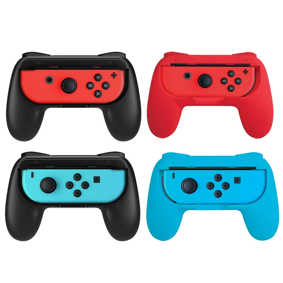 Beastron Joy Con Grips Compatible with Nintendo Switch, Handle Kit for Nintendo Game Switch Joy Con Controller 4 Pack by Beastron (Image #1)