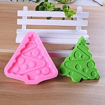 2 moldes de silicona para fondant, árbol de Navidad, copo de nieve, decoración