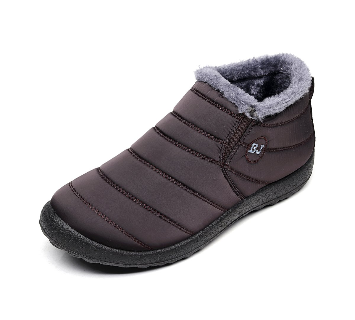 Chaussures Bottes avec de Neige Café avec Chaud Fourrure Doublure Cheville Hiver Boots Imperméable avec Epais Fourrure Bottine pour Hommes Femme Café 467db7d - piero.space