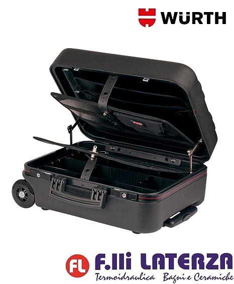 Würth - Maleta portaherramientas con ruedas, W, 0 V, color negro, trolley
