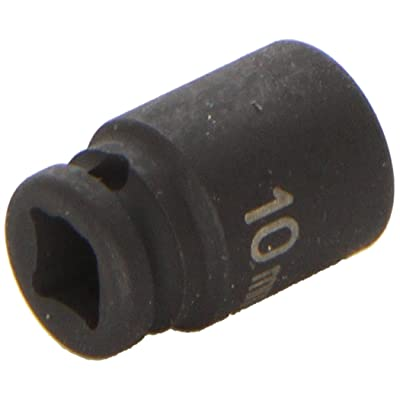 "Grey Pneumatic (910MG) 1/4"" Drive x 10mm Magnetic Standard Socket: Automotive"