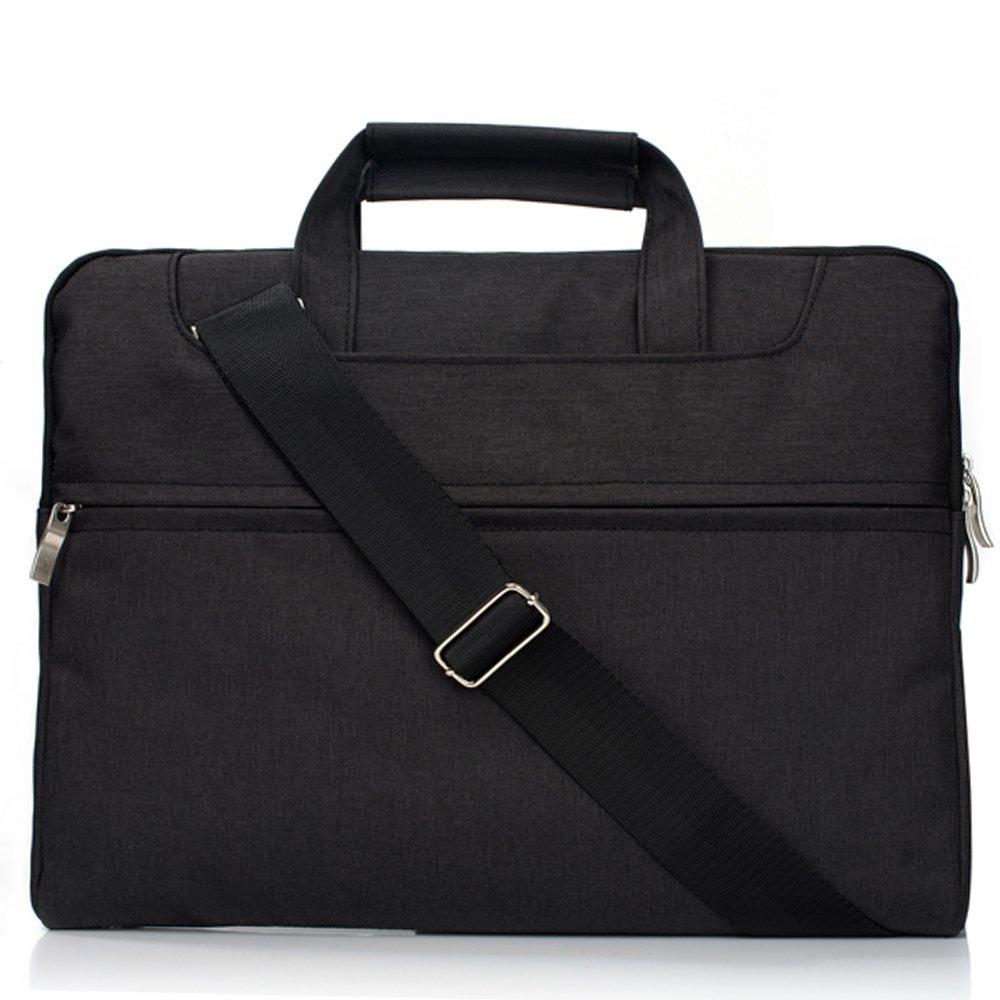 11-11.6 Inch Briefcase Messenger Bag with Shoulder Strap,Macbook 12 Inch 2017/2016/2015 Release Ultrabook Netbook Tablet by Businda,Black by Businda