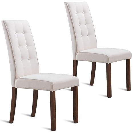 Amazon.com: EnjoyShop - Juego de 2 sillas de comedor ...