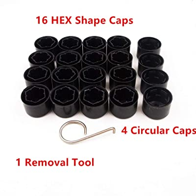 Space-parts 20-Pack Wheel Lug Nut Bolt Cover Caps Locking Caps Set for VW Volkswagen Free Dismantle Tool 1K0 601 173: Automotive