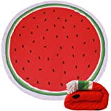 (23 Options) Thick Round Beach Towel Blanket - Microfiber Terry Beach Roundie Circle Yoga Mat With Fringe,High Color fastness,30-Days Money Guarantee Back