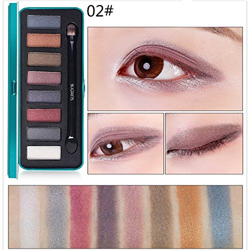 Wensy Iron Box 8 Colors Eye Shadow Eye Shadow Cosmetic Palette Suitable For Home And Professional Use Eye Shadow Basin -