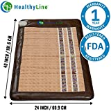 InfraMat Pro™ 3 In 1 Healing Experience - Infrared Heating Mat, Pain Relief (Soft & Flexible - Medium 40″ x 24″) Adjustable Temperature Setting | No EMF, FDA, 1-Year Warranty