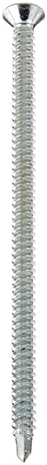 Pack of 10 #8-18 Thread Size Steel Self-Drilling Screw Pack of 10 3-1//2 Length Phillips Drive Zinc Plated Finish 3-1//2 Length 82 Degree Flat Head Small Parts 0856KPF #2 Drill Point