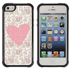Suave TPU GEL Carcasa Funda Silicona Blando Estuche Caso de protección (para) Apple Iphone 5 / 5S / CECELL Phone case / / Floral Flowers Love Girl Spring /