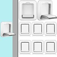 8 Pieces Kids Safety Sliding Window Locks Sliding Door Lock Sliding Glass Door Child Lock Patio Door Lock Baby Proofing…