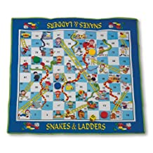 """MAC-T PE08644 Giant Floor Game - Snakes and Ladders, Mat Size: 70"""" x 63"""" x 3/16"""""""