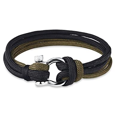 Bracelet homme corde manille