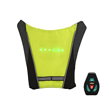 Bicycle Bags & Panniers Efficient Usb Charging Led Light Warning Vest Backpack Mtb Bike Bag Safety Led Signal Vests Warning Accessories Back To Search Resultssports & Entertainment