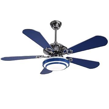 AMZH Lámpara creativa del ventilador del techo Sala de estar ...