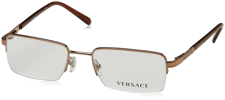 e2a833302c1 Amazon.com  Versace VE1066 Eyeglasses-1053 Light Brown-50mm  Shoes