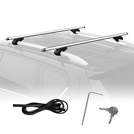 Summates Universal Roof Top Cargo Rack Cross Bars 1Pair (47u201c Cross Bar )