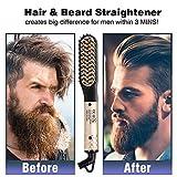 Beard Straightener for Men, Multifunctional Mens