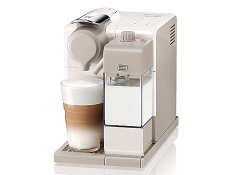 Nespresso DeLonghi Lattisima Touch Animation EN560.W - Cafetera monodosis de cápsulas Nespresso con depósito de leche, 6 recetas seleccionables, 19 bares, ...