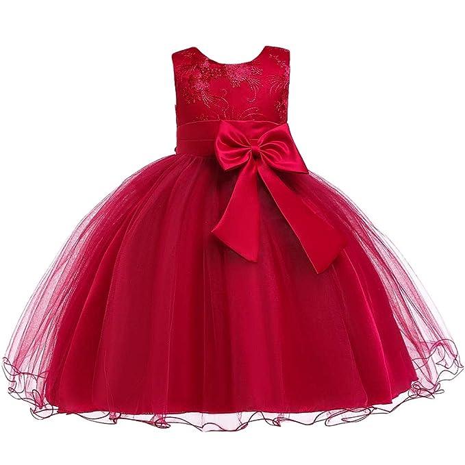eb7c3dfdb LZH Vestido de Niñas Boda Fiesta de Princesa Encaje de Flor Cóctel Vestido   Amazon.es  Ropa y accesorios