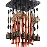 Outdoor Indoor 28 Metal Tube Wind Chime with Copper Bell Large Windchimes for Patio Garden Terrace W Fengshuisale Red String Bracelet W3089 Review