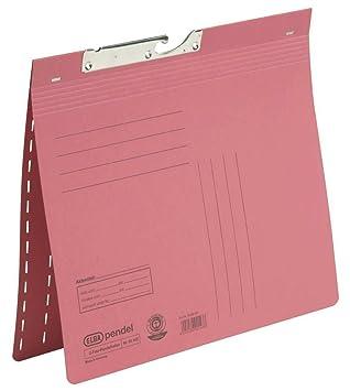 Elba 90462RO - Archivador colgante (texto en alemán, cartón Manila reciclado, 320 g/m², 2 pliegues, 25 unidades), color rojo: Amazon.es: Oficina y papelería
