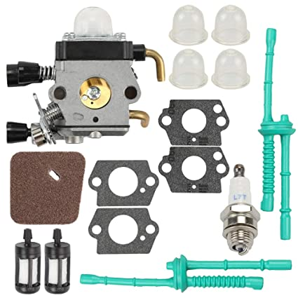 C1Q S97 Carburetor For Stihl FS38 FS45 FS45C FS45L FS46 FS55 FS55C FS55R FS55RC FS55T HL45 KM55 KM55C KM55R KM55R ZAMA Carb String Trimmer Weed Eater