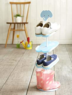 Addfun Kid Shoe Rack,Creative Floor Style Rotating Shoe Storage Rack Three  Dimensional Cartoon Children