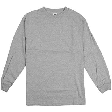AlStyle Apparel AAA Plain Blank Men s Long Sleeve T-Shirt Style 1304 Crew  Tee c5dce01b743