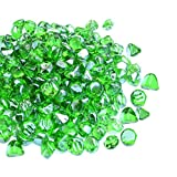 Mr. Fireglass 1/2-Inch Reflective Fire Glass Diamonds with Fireplace and Fire Pit, 10 lb, Emerald Green Review