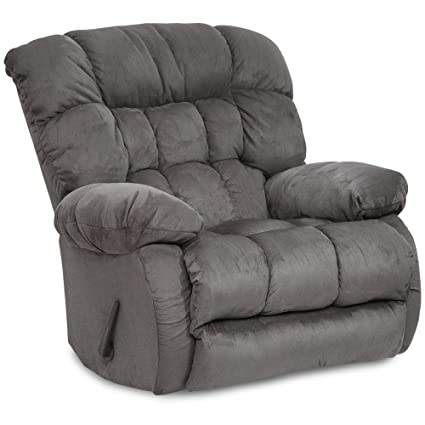 Catnapper Teddy Bear Inch A Way Oversized Chaise Recliner Chair   Graphite
