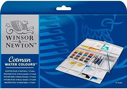 Winsor Newton Cotman Painting Plus Boite D Aquarelle 16 Demi