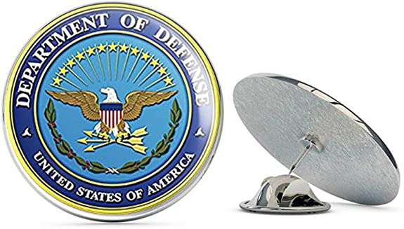 US Lapel pin//Tie tack FBI Logo Round New DOJ Blue Enamel