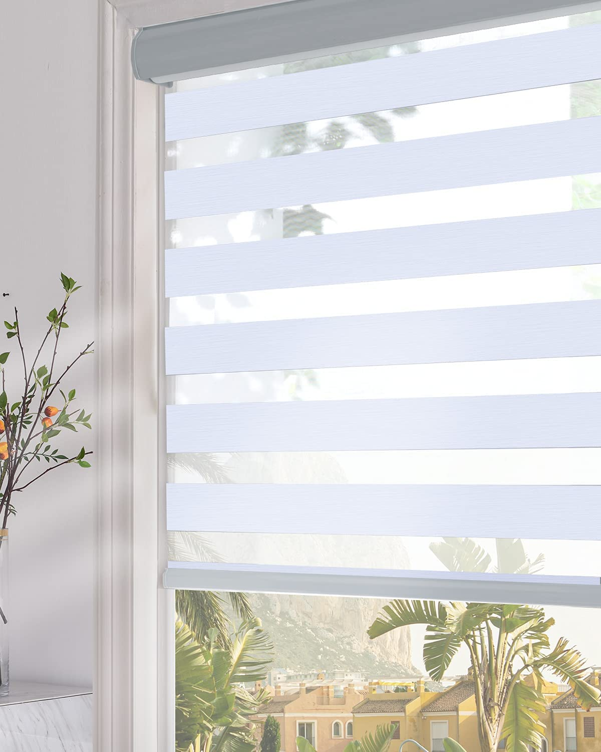 Persilux Blackout Zebra Window Shades Dual Layer Roller Sheer Shades (29