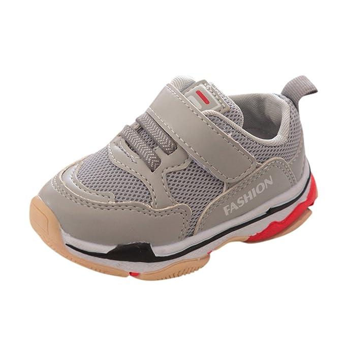 YanHoo Zapatos para niños Zapatillas niño y niña Niños pequeños Niños Niños Bebé Deportes Zapatos para Correr Letra Sólidos Zapatos de Malla Zapatillas ...