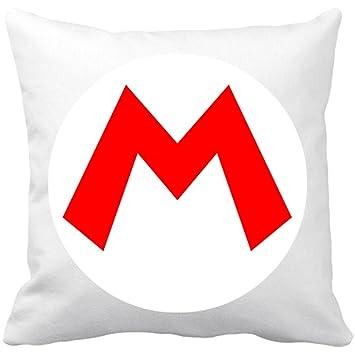 Cojín con relleno Super Mario Team Mario - Blanco, 35 x 35 ...