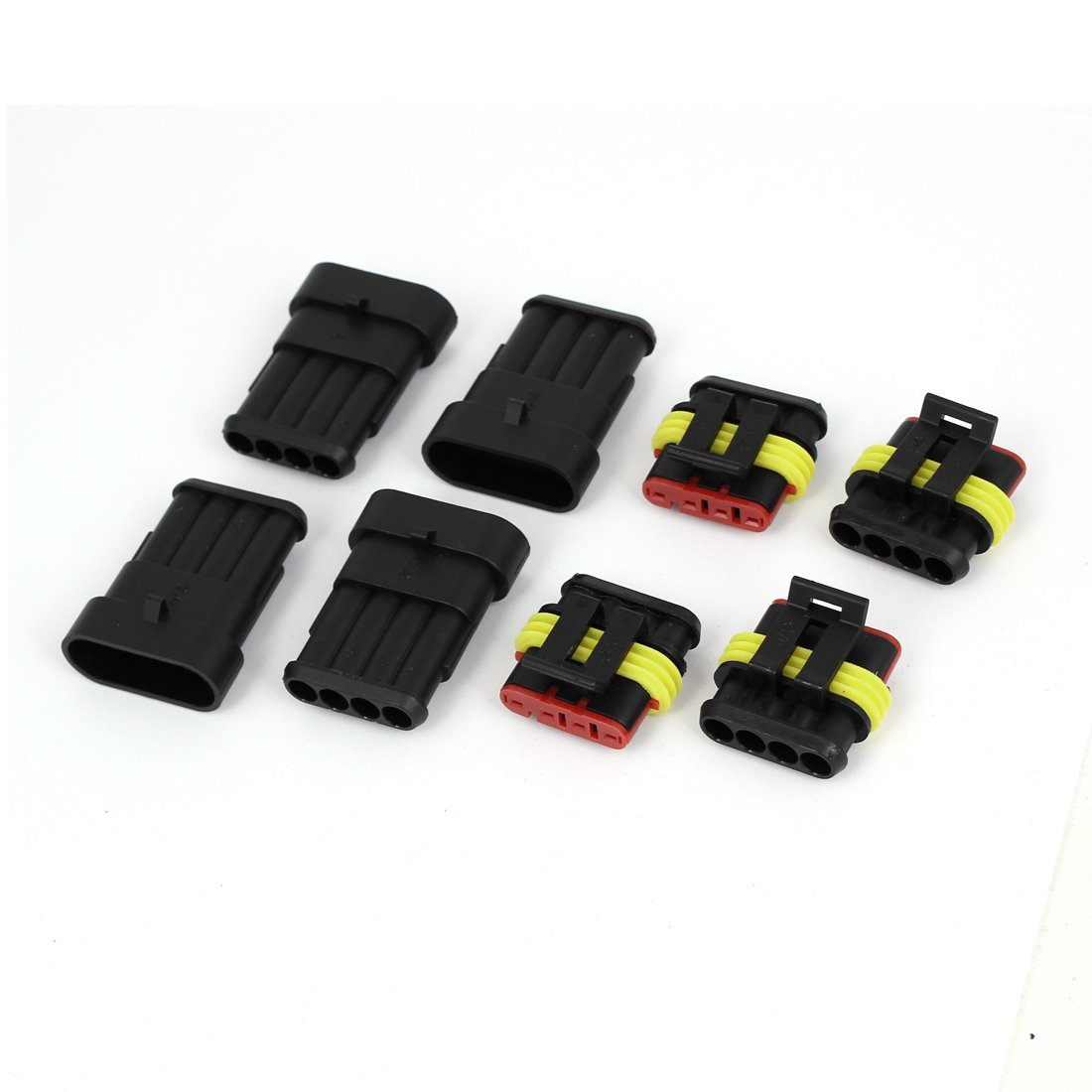 Amazon.com: eDealMax 4 pin conector impermeable manera automática Parte 4 Kit: Car Electronics