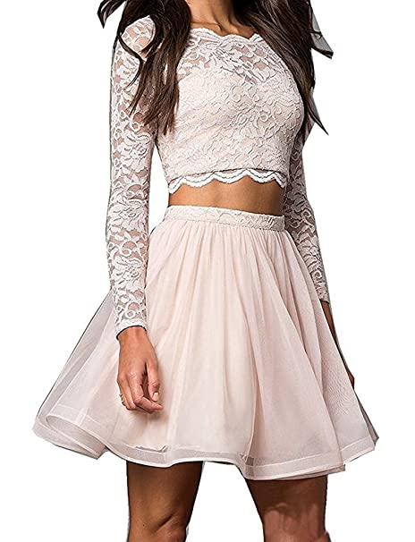 Amazoncom Inmagicdress Lace Homecoming Dress Long Sleeves