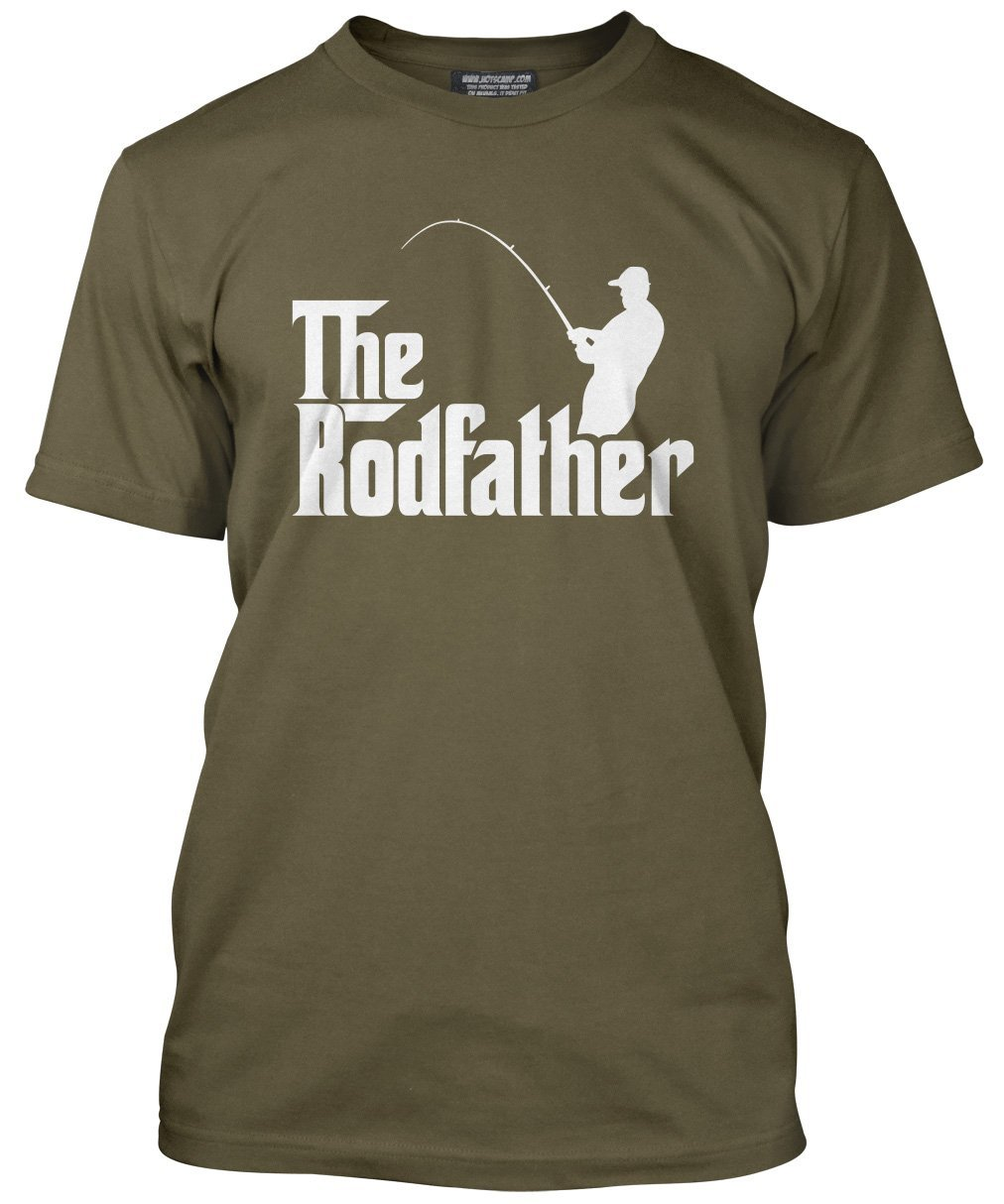 The Rodfather - Fathers Day Dad Father Gift - Mens T-Shirt