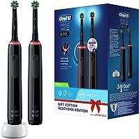 Oral-B PRO 3 3900 Elektrische tandenborstel/elektrische tandenborstel, dubbelverpakking, met 3 poetsmodi en visuele 360…