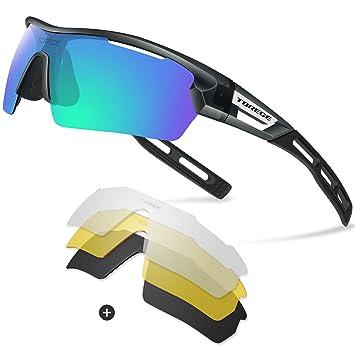 Gafas de sol deportivas polarizadas, de Torege, TR033, unisex, para ciclismo, correr, pesca, golf