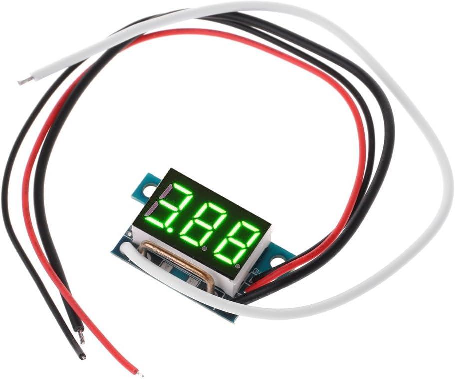 Blau JunYe DC0-10A Digital LED Amperemeter Strommessger/ät 0.36in Modul Verpolungsschutz
