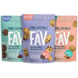 Organika Fav Keto Mini Cookies-Variety Pack- Low Carb, Collagen Protein, Gluten-Free, Healthy Snack 3 count